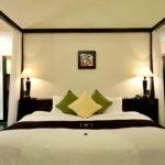 Aqua Bungalow king size bed Vedana Lagoon resort & spa